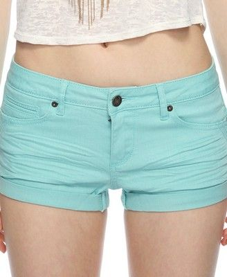 Tiered Stitch Colored Denim Shorts | FOREVER21