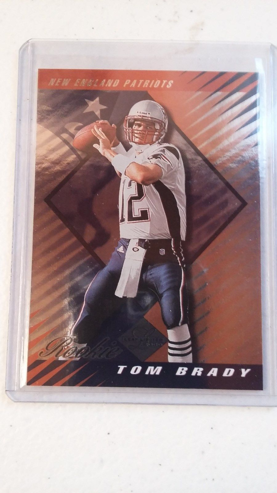 2000 Tom Brady Rookie 189/350 Leaf Limited Patriots