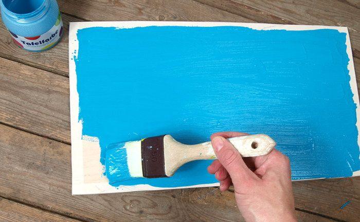 basteln mit kindern kreidetafel selber machen basteln. Black Bedroom Furniture Sets. Home Design Ideas