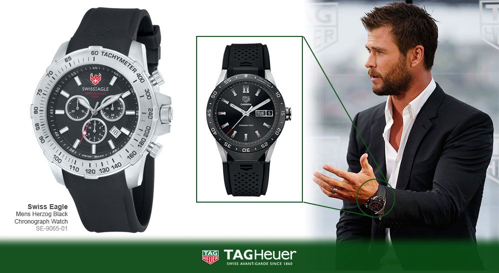Chris hemsworth swiss eagle se 9065 01 celeb style chris hemsworth hemsworth watches for Celebrity wrist watches