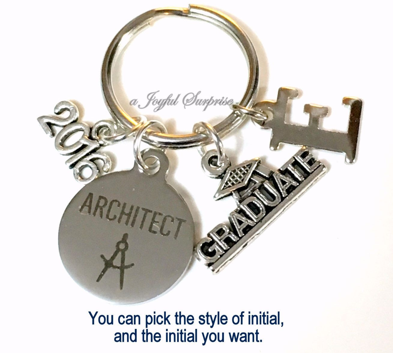 Architect Student architect graduation present, architecture keychain, gift for