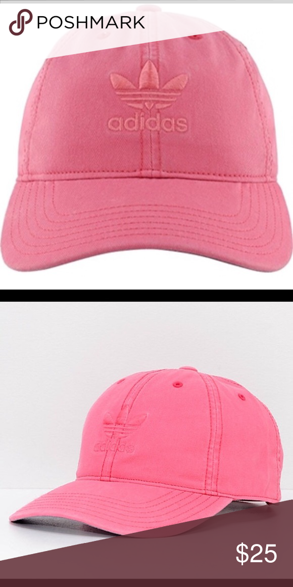 789c299fb Adidas Relaxed Strapback Chalk Pink Baseball Cap NWT Pretty Pink On ...
