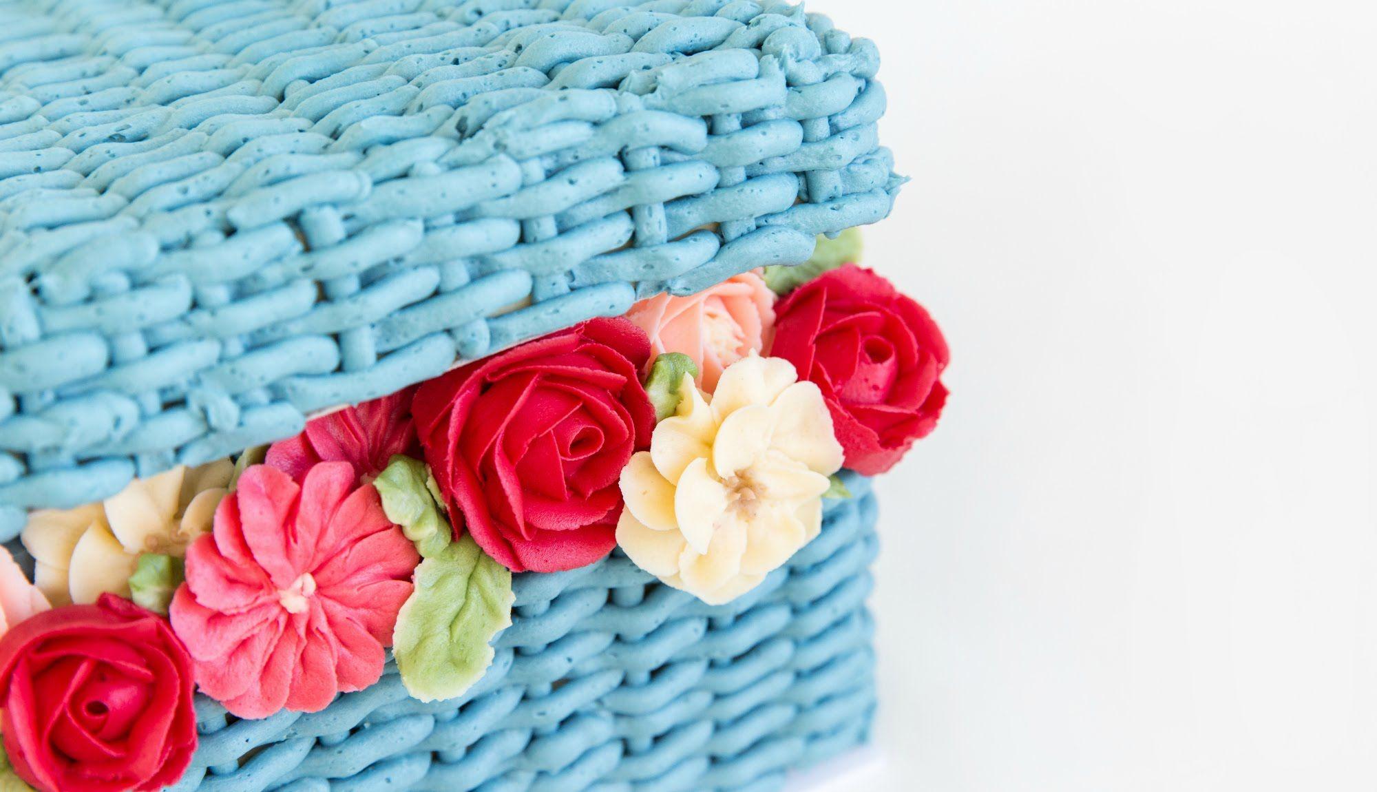 Beautiful flower basket cake decorating cake style youtube beautiful flower basket cake decorating cake style youtube izmirmasajfo