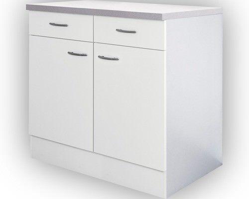 Küchenschrank Breite 80 cm Weiß Unterschrank Schrank Küchenregal