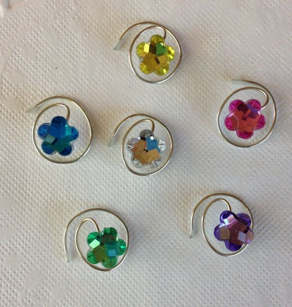 Pastel #Flowers for your #hair! Perfect for #bridesmaids and #Flowergirls. Click on the link to see more colors and other designs. www.hairswirls1.com  Hair Swirls Spins Spirals Coils in Adorable Flower by hairswirls1, $9.99