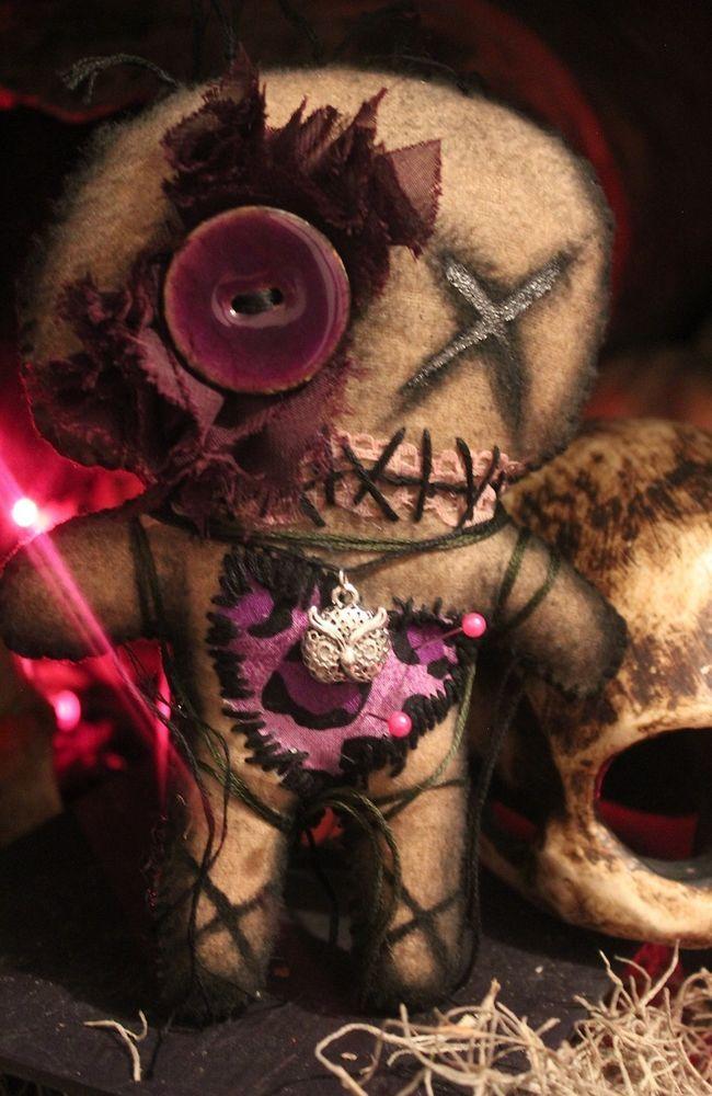 Ooak new orleans voodoo doll creepy haunted halloween ...