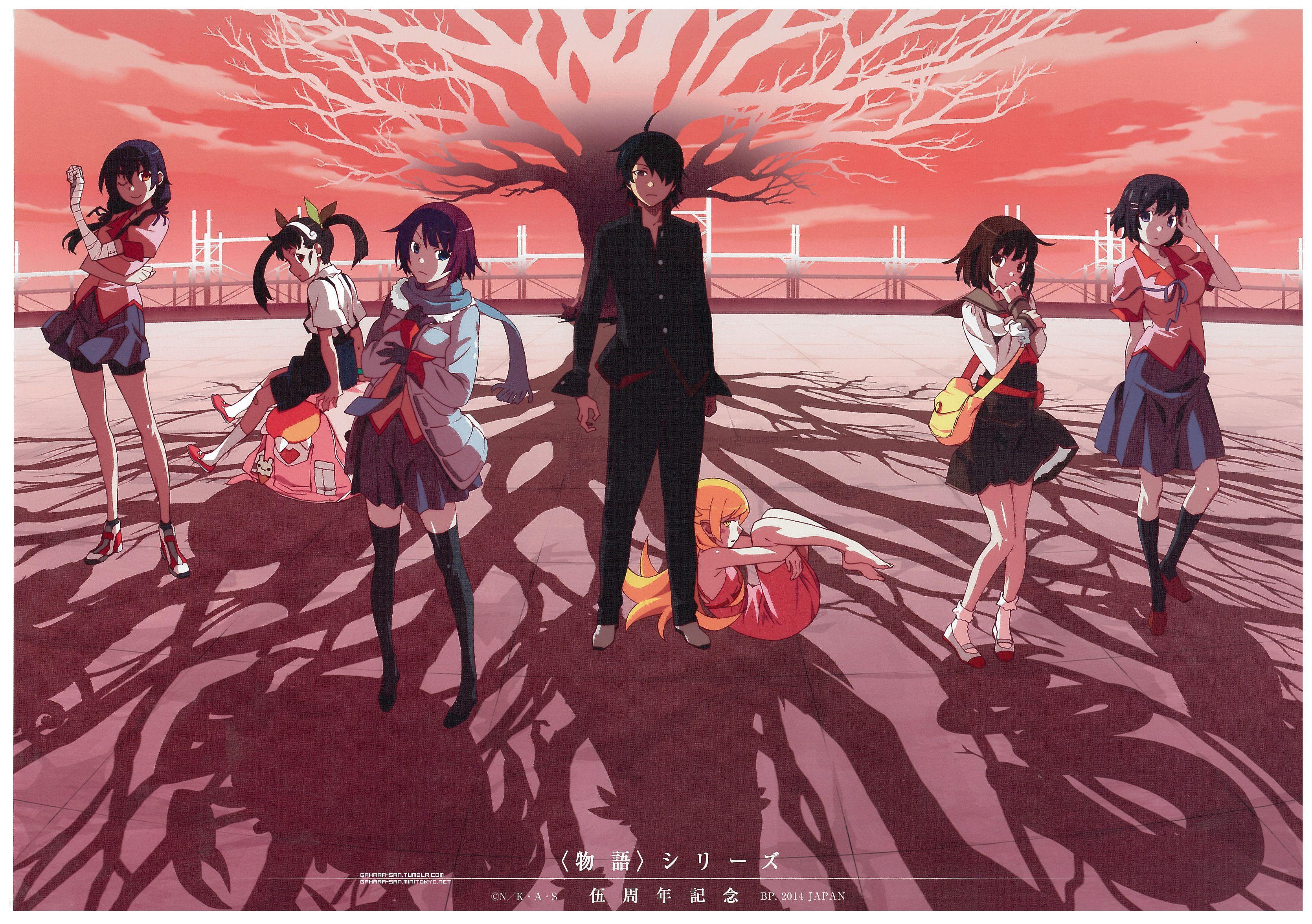 Download Bakemonogatari Monogatari series (3338x2352