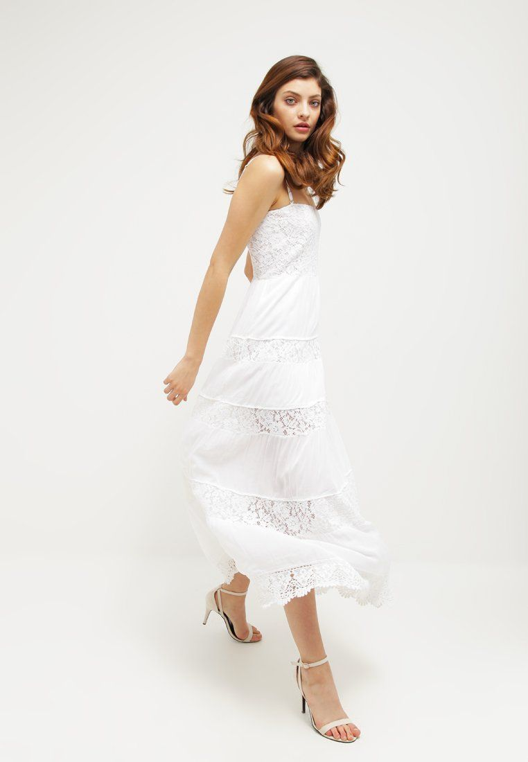 Guess ROSALIE Robe longue blanc - Robe Femme Zalando   Zalando Top ... 74224e1d378