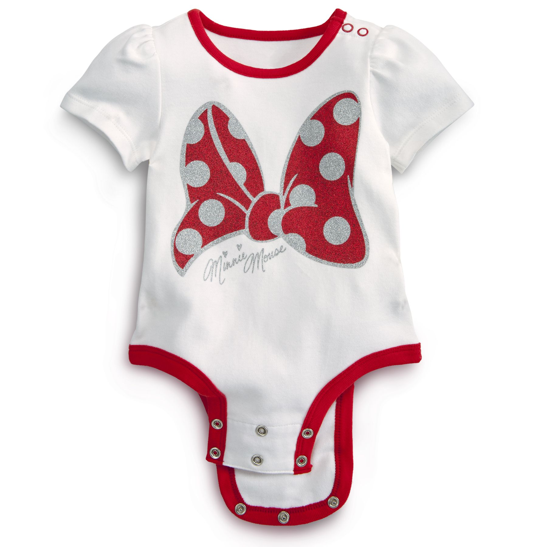 Glitter Bow MINNIE MOUSE Disney Cuddly Bodysuit