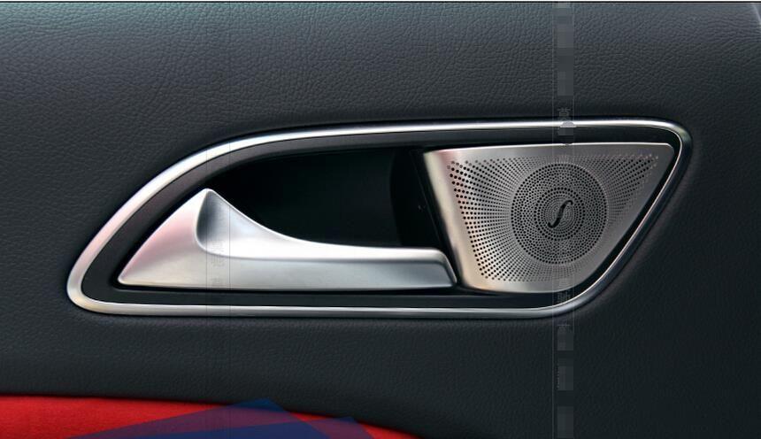 New For Mercedes Benz Gla X156 Cla W117 2014 2015 Inner Rear Door Bowl Stereo Speaker Cover Trim 2 Pcs Set Interior Accessories Mercedes Benz Gla Interior