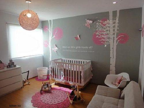 décoration chambre bebe fille rose et gris | chambre bébé ...