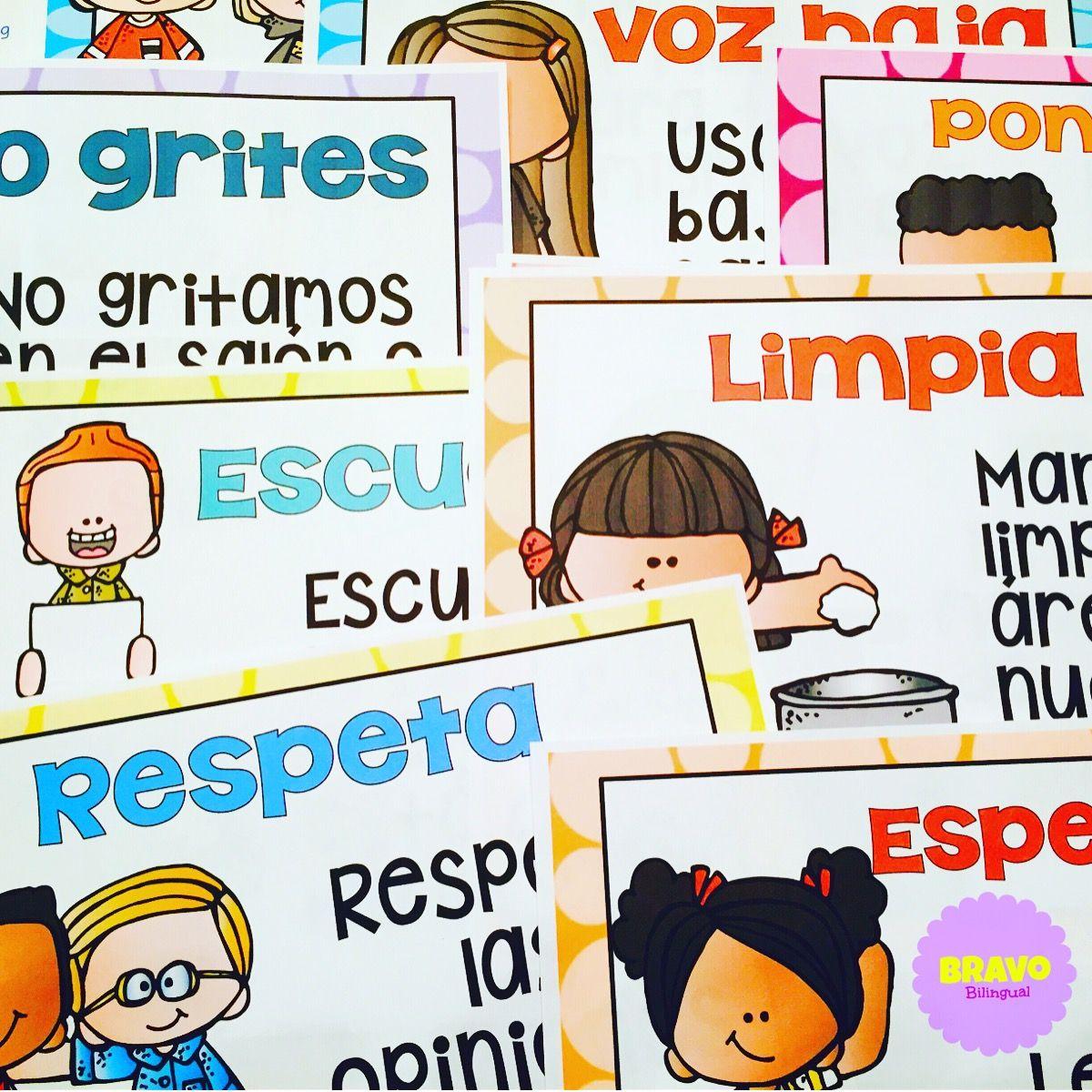 Reglas Del Salon Rules Bilingual Clasroom