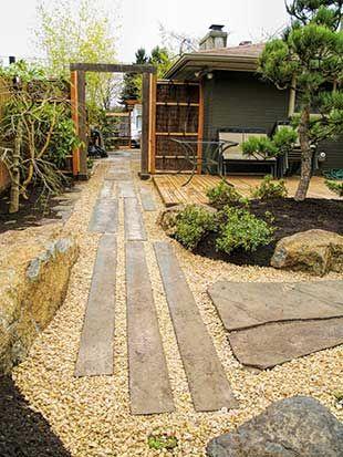 Zen japanese garden design landscape garden design for Japanese garden path design