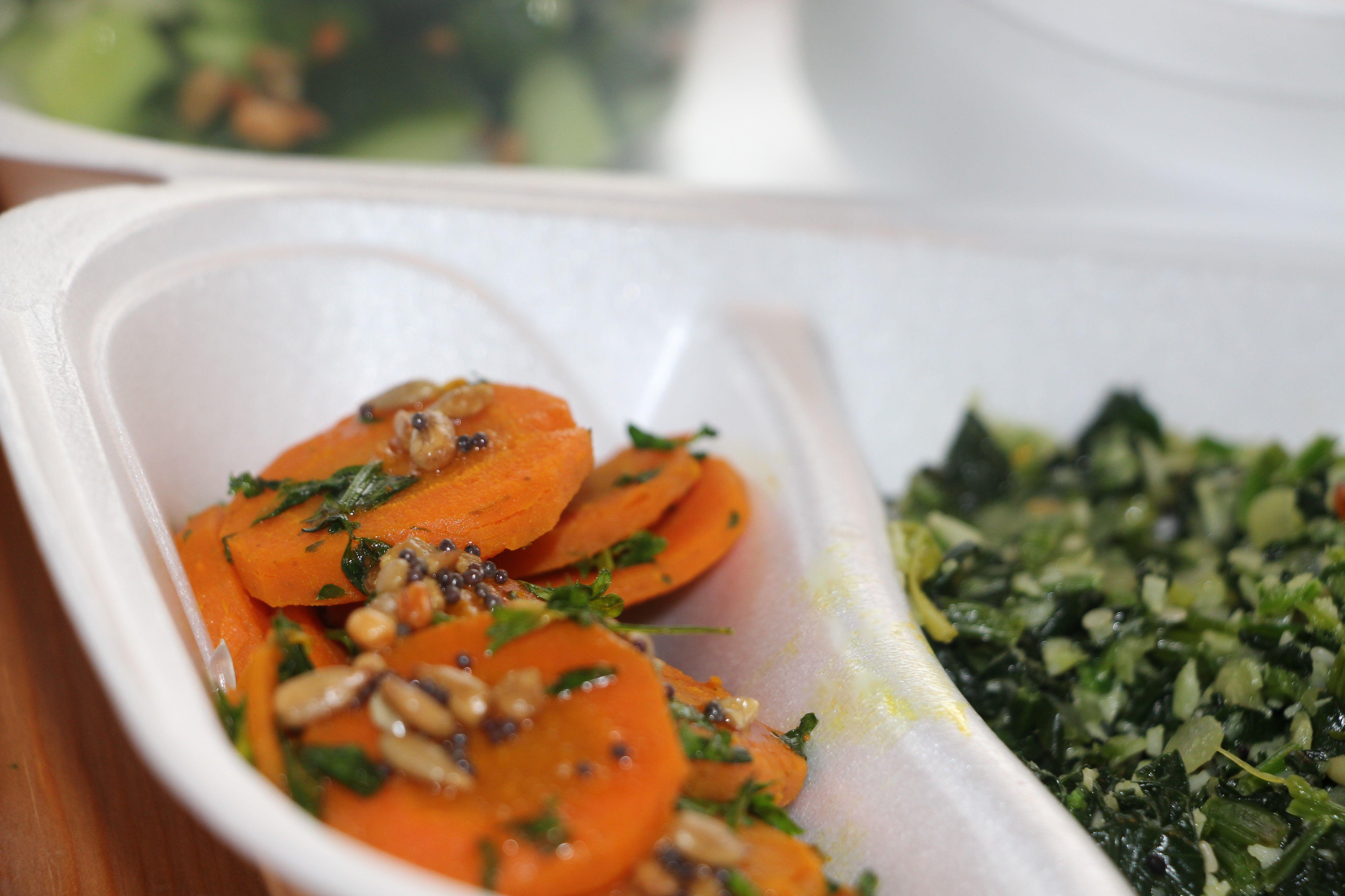 turmeric carrots and parsley