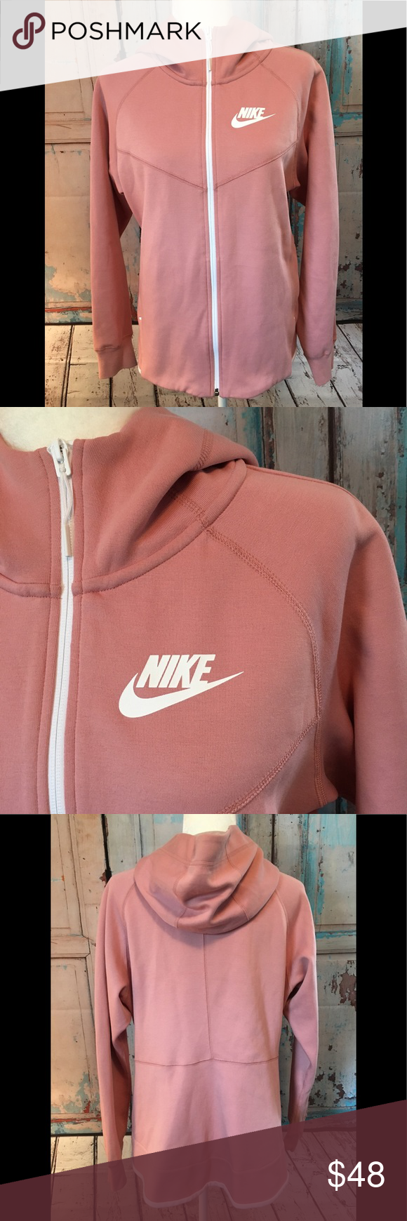 Nike Full Zip Blush Pink Hoodie NWT Fashion, Fashion