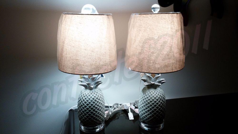 Tommy bahama set of 2 patina finish pineapple 20 table lamps with tommy bahama set of 2 patina finish pineapple 20 table lamps with shade nwt aloadofball Choice Image