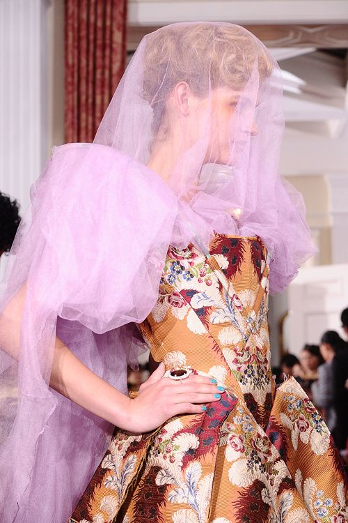 Vivienne Westwood Gold Label on show at Tokyo's British Embassy #baroque