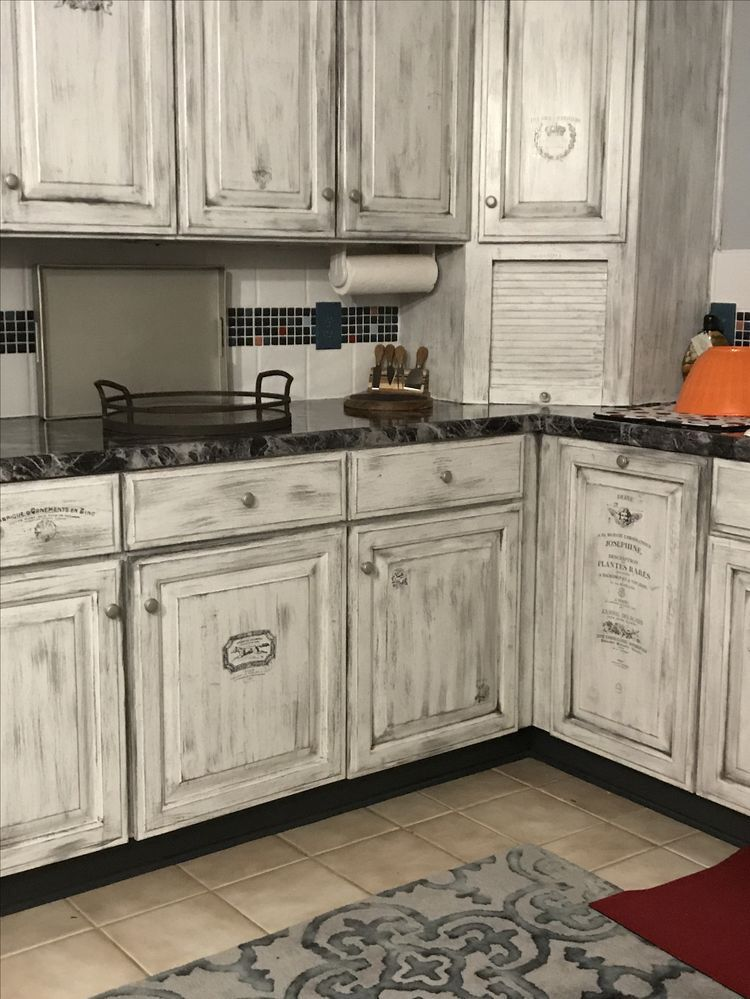 incredible cream distressed kitchen cabinets | Pin by Elise Cook on house layout in 2019 | Cream kitchen ...