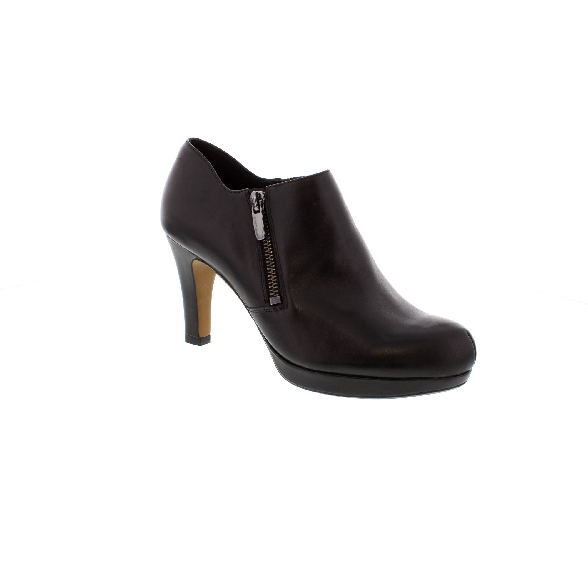 Clarks Amos Kendra Black Leather Ladies Shoe Boot
