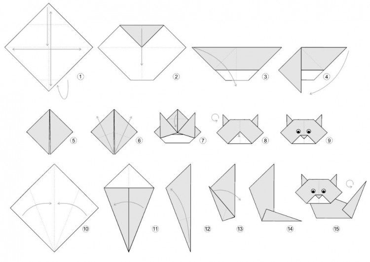 The geek x vrv bleu toucan sortent origami pliage chat ep review instruction papiers cartons - Origami facile a faire animaux ...