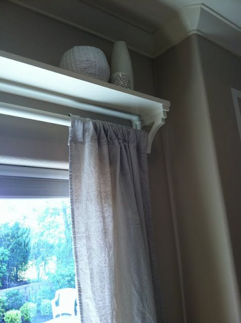 How To Curtain Rod Shelving Above Window Door Playroom