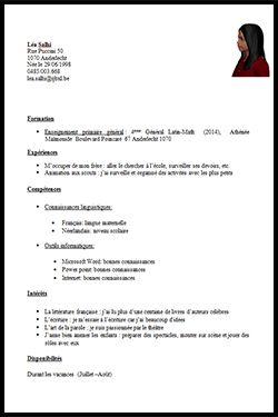 Word 1 4 Mo Exemple Cv Lettre De Motivation Et Job Etudiant