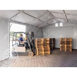 Photo of Storage tent 8x8m – 3.6 m side height with sliding gate, Pvc gray | without static shelter, toolport storage
