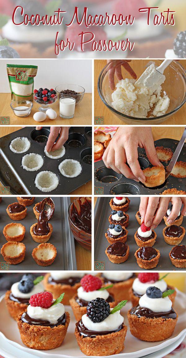 Coconut Macaroon Tarts For Passover Recipe Passover Recipes