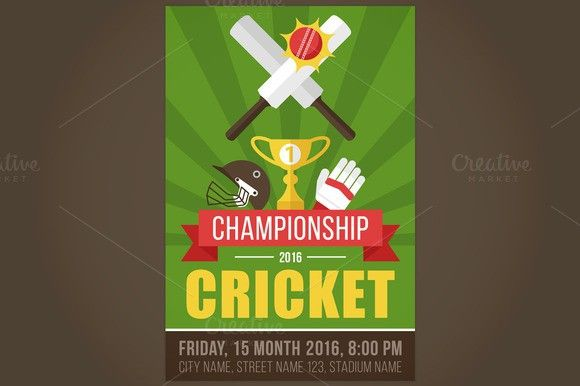 Cricket Flyer  Flyers Cricket And Flyer Template