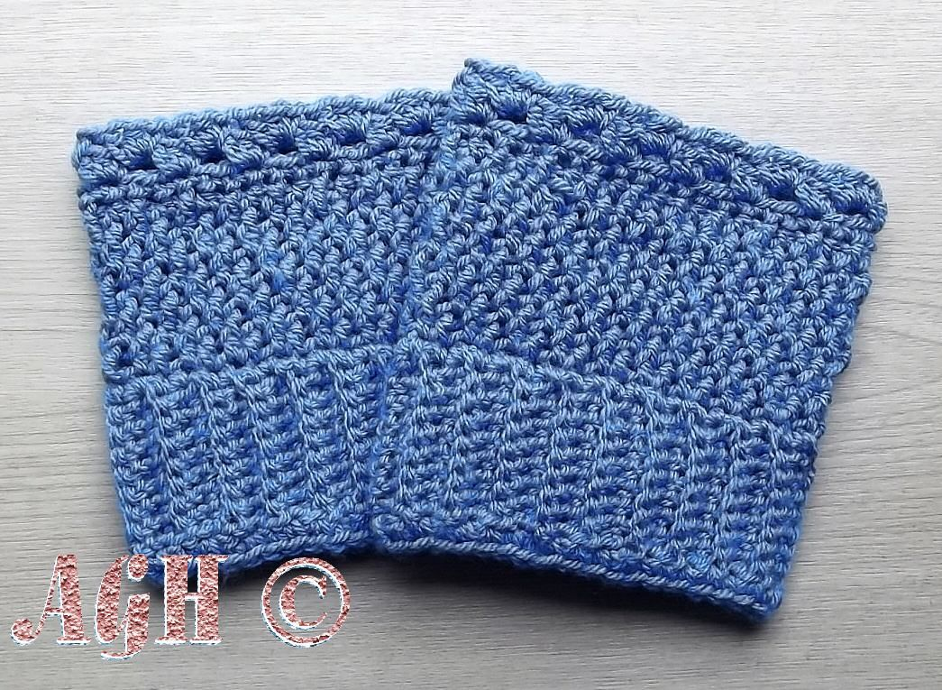 AG Handmades: Easy Reversible Boot Cuffs - free crochet pattern in 5 ...
