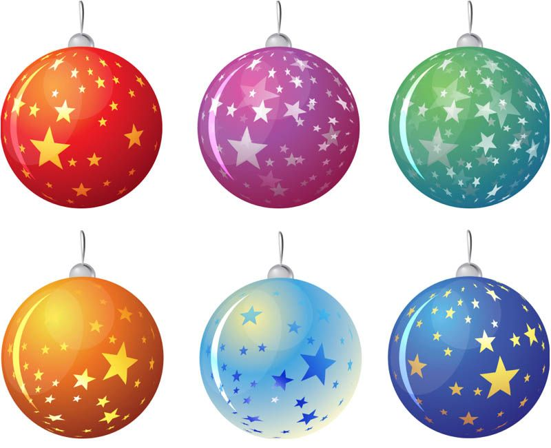 Christmas Tree Balls With Stars Vector Cartoon Christmas Tree Cool Christmas Trees Christmas Tree Design