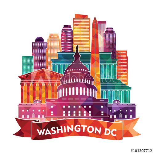 Washington Dc Vector Illustration Buy This Stock Vector And Explore Similar Vectors At Adobe Stock Adobe St In 2020 Vector Illustration Washington Dc Illustration