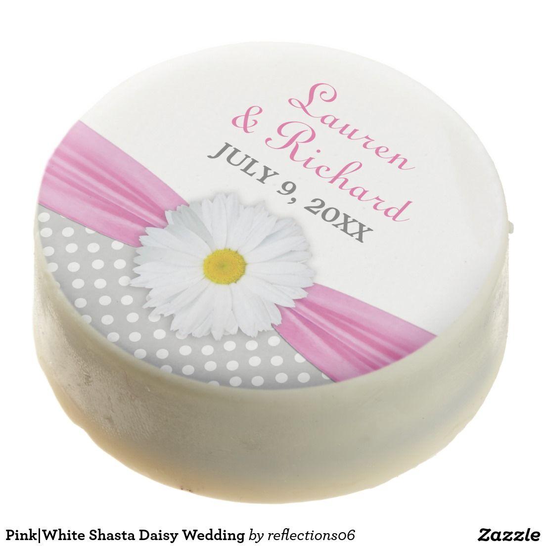 Pink|White Shasta Daisy Wedding Chocolate Dipped Oreo | Wedding ...