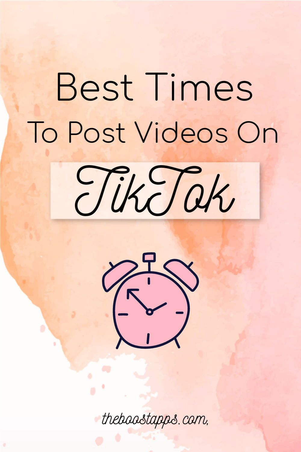 When Is The Best Time To Publish Videos On Tiktok Boosted Social Media Infographic Marketing Strategy Social Media Video Marketing
