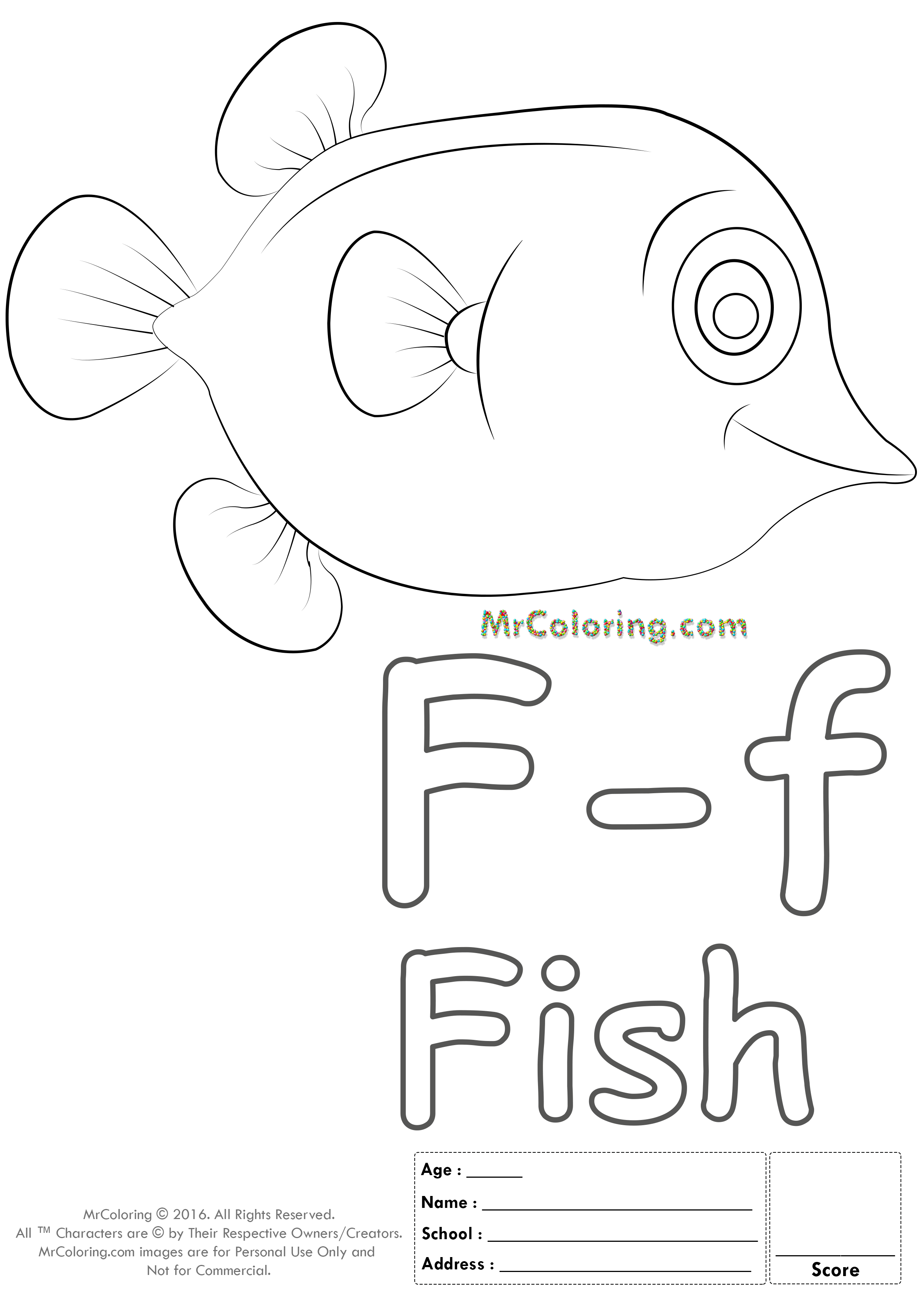 Alphabet Letter Ff Coloring Pages Coloring Worksheets