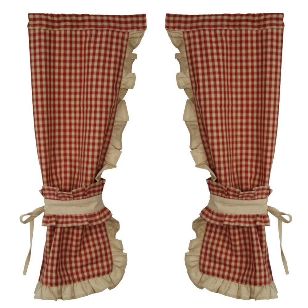 produits les sculpteurs du lac paire de rideaux bonne femme vichy 2 embrasses alpsstyle. Black Bedroom Furniture Sets. Home Design Ideas
