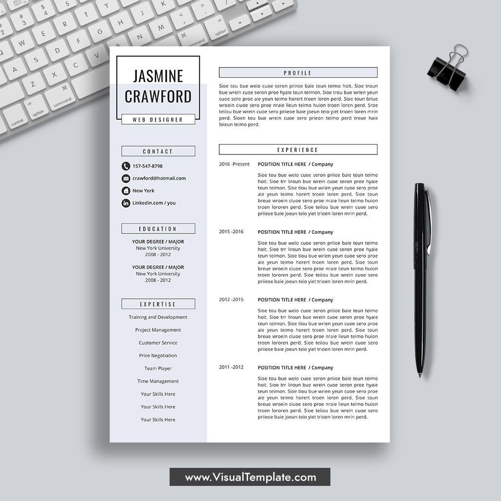 Creative Resume, Professional Resume Design, Modern and