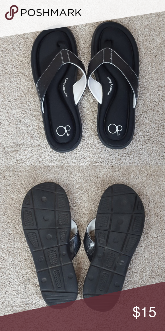 522e1a8b89bad OP flip flops Black memory foam flip flops. Only worn once. In excellent  condition. OP Shoes Sandals