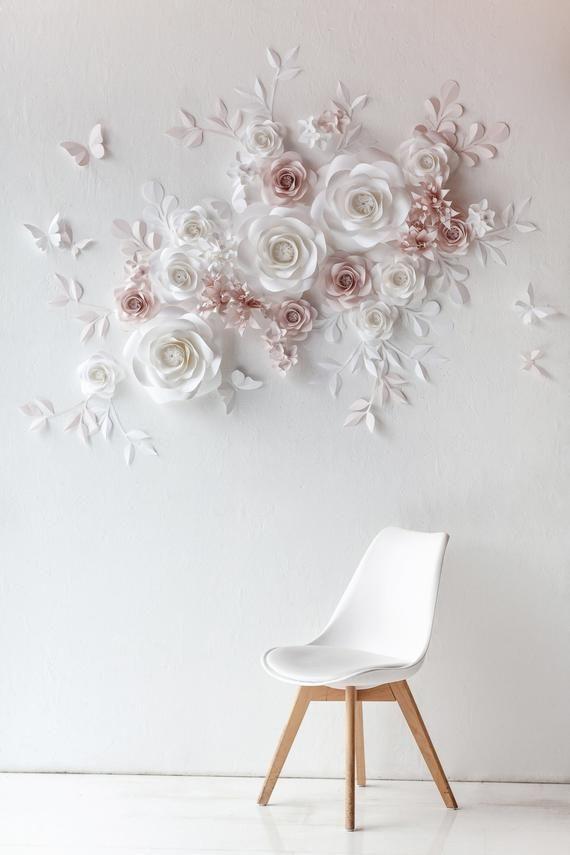 Wedding Paper Flower Wall - Wedding Paper Flower Backdrop - Wedding Paper Flower Banner #paperflowerswedding