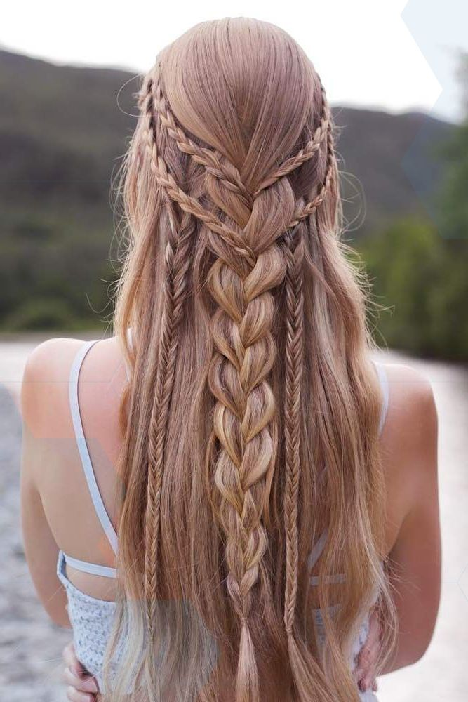 Half-Up Half-Down Prom Braided Hairstyles picture2 # ...