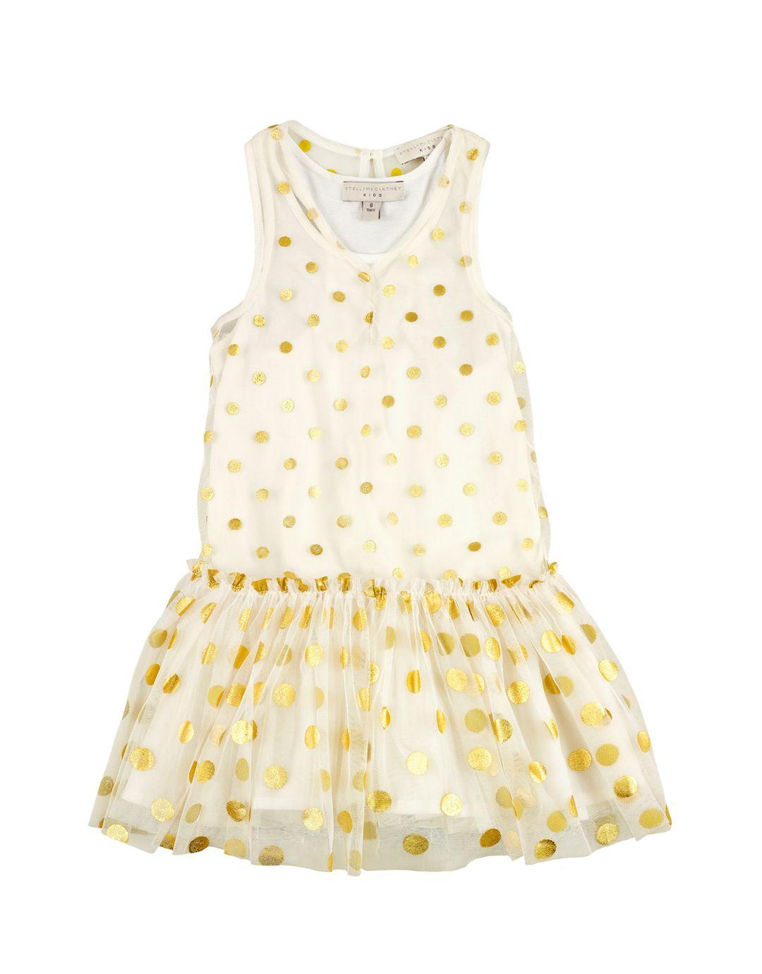 STELLA McCARTNEY KIDS  Gold Collection Polka Dot Layer Dress