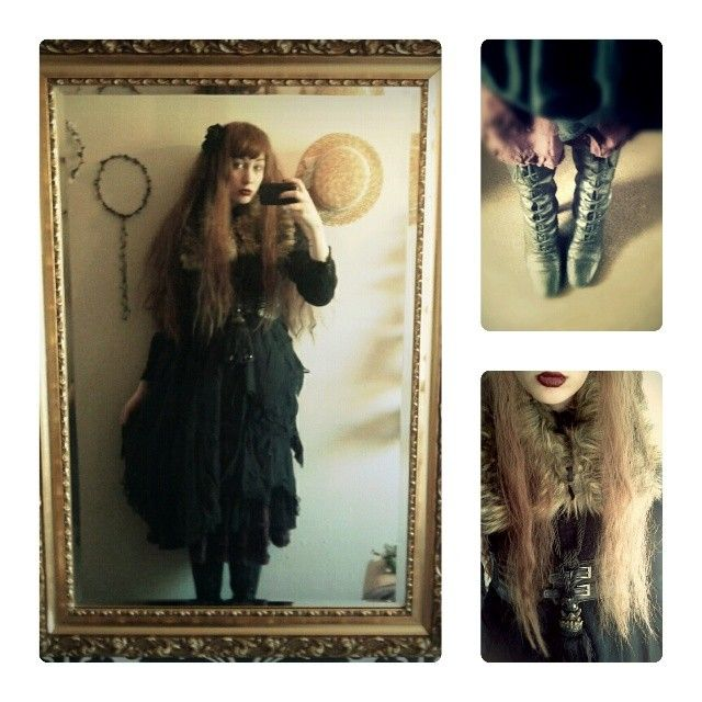 yukidoll: All black outfits are the worst to photograph! So much detail lost.