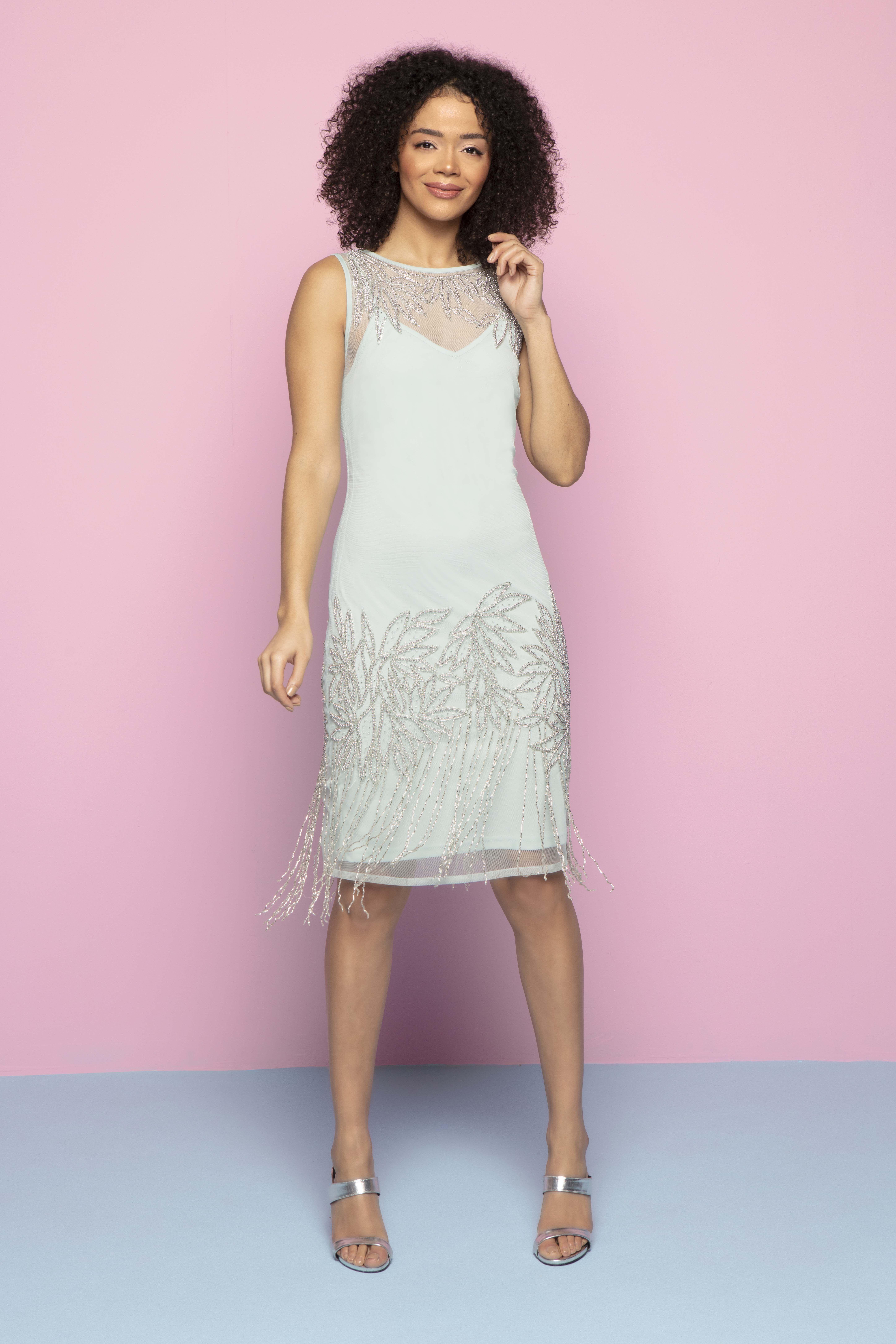 8a968bc450317 Embellished Flapper Dress in Mint - Roman Originals UK | Roman SS19 | Roman  originals, Dresses, Lace skirt