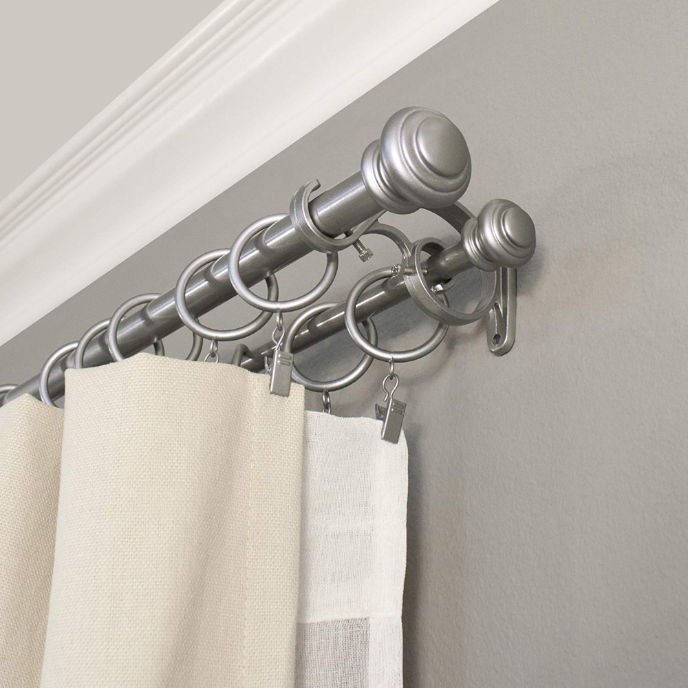 Curtain Rods Hardware Ease Bedding With Style Curtain Rods Curtain Rods And Hardware Double Rod Curtains