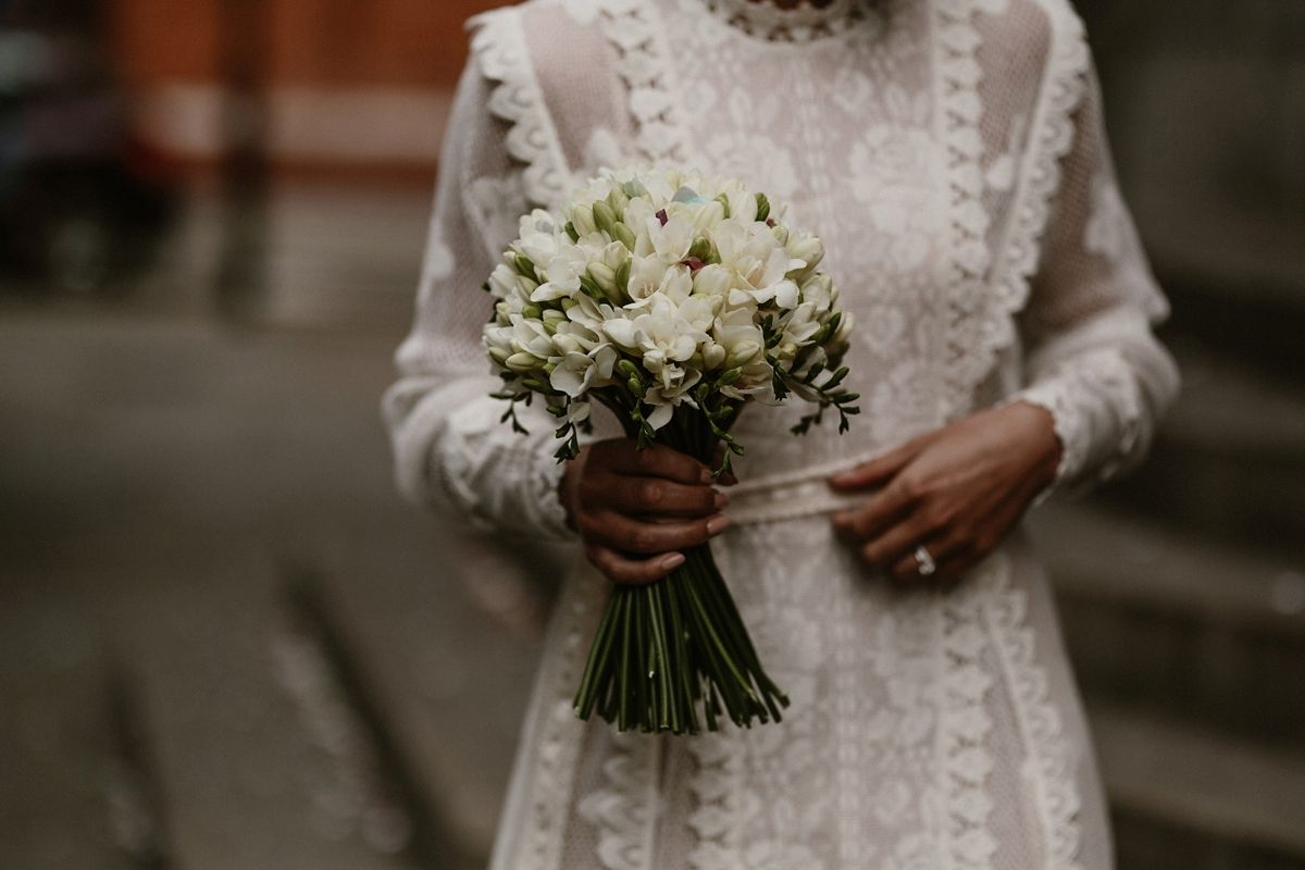 1940's style wedding bouquets  A Short Crochet Dress for an Effortless Minimal and Chic City