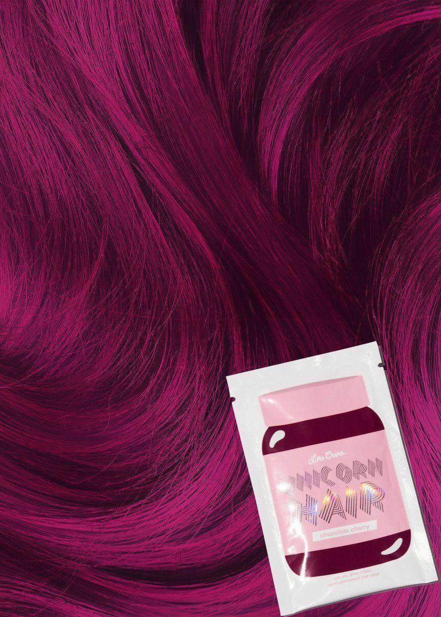 Lime crime chocolate cherry unicorn hair colour sahet hair