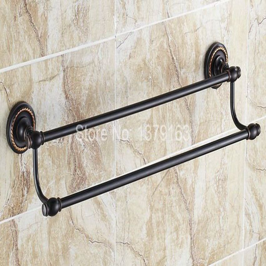 Lovely Oil Rubbed Bronze Double towel Bar