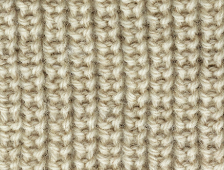 Half Brioche Stitch. Using this in two colors for a fall lavender ...