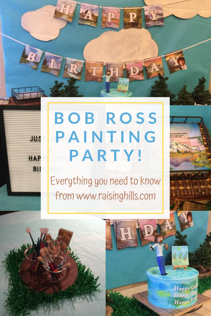 A Happy Little Birthday Party Bob ross birthday, Paint