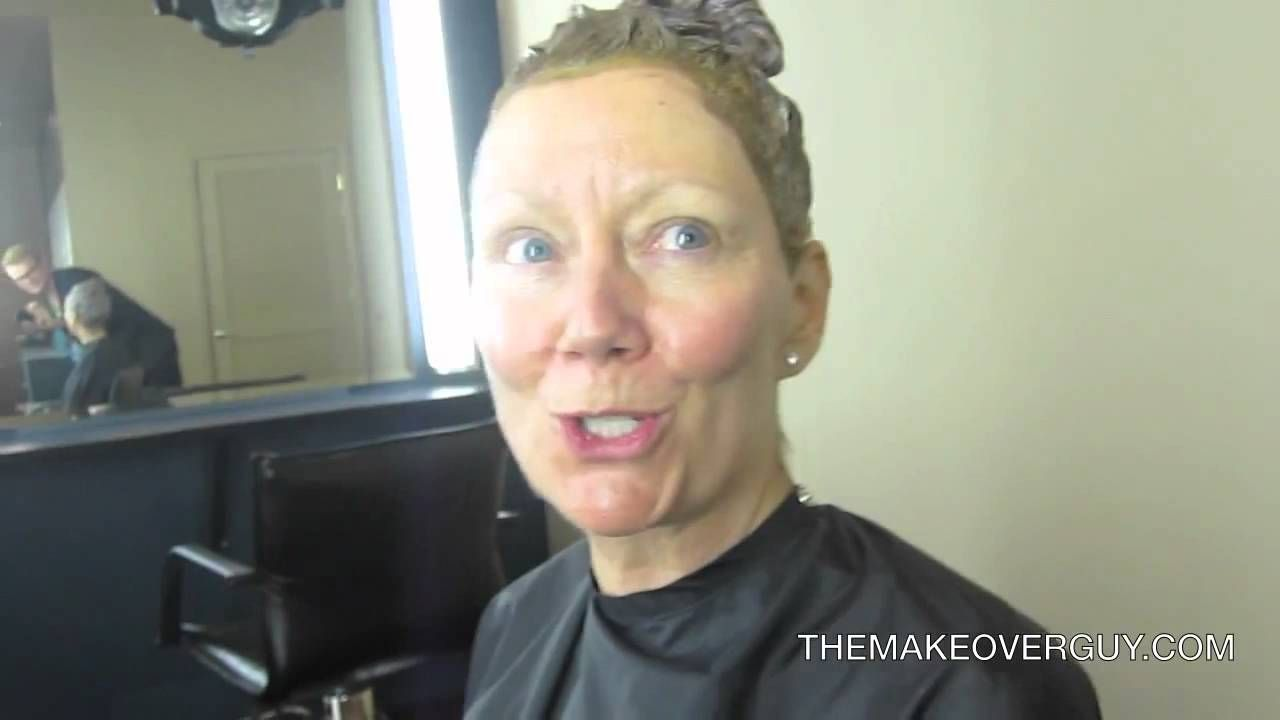 The Makeover Guy Dramatic Over 40 Blonde To Red Makeover Womens
